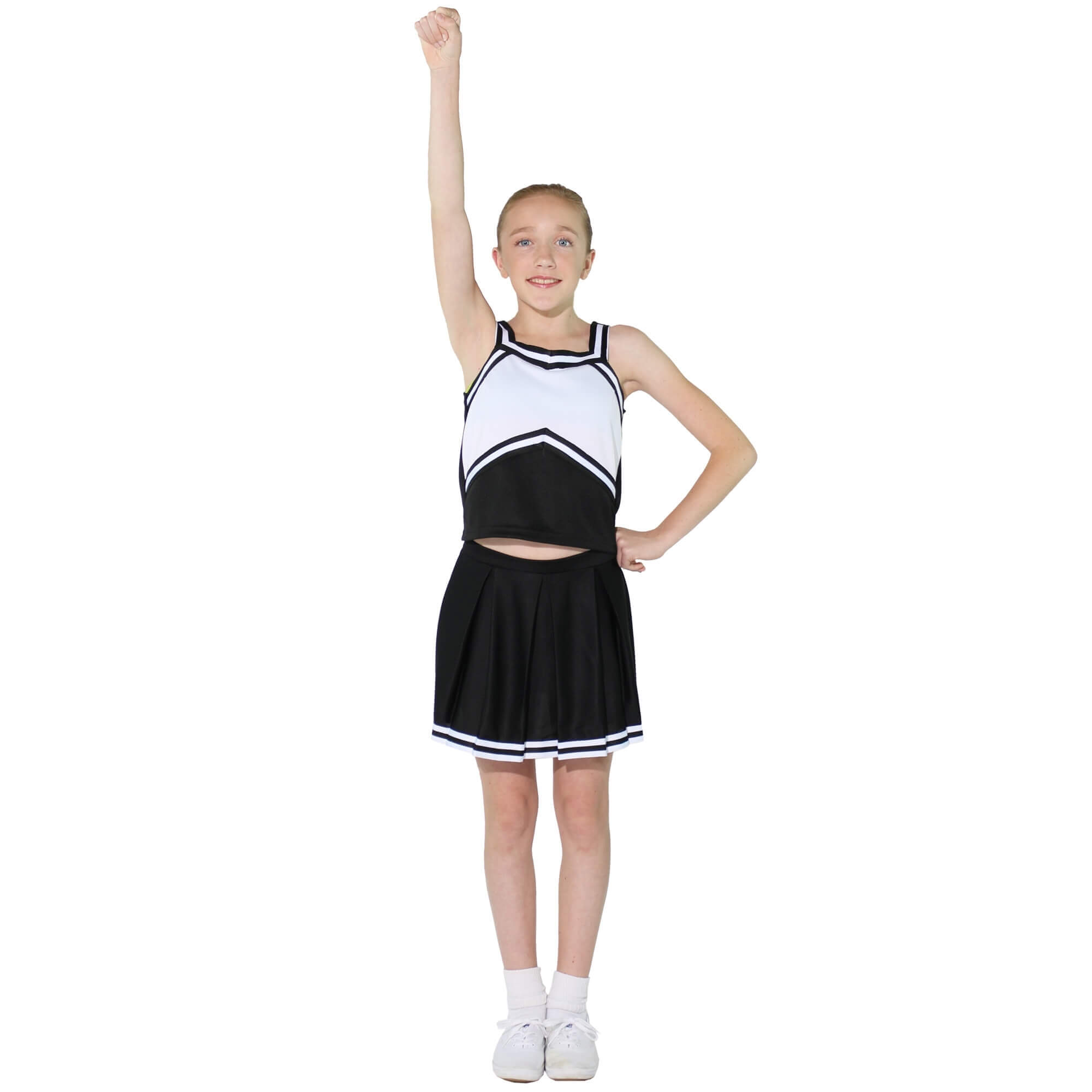 Danzcue Child Sweetheart Knit Pleat Skirt Cheerleaders Uniform Set