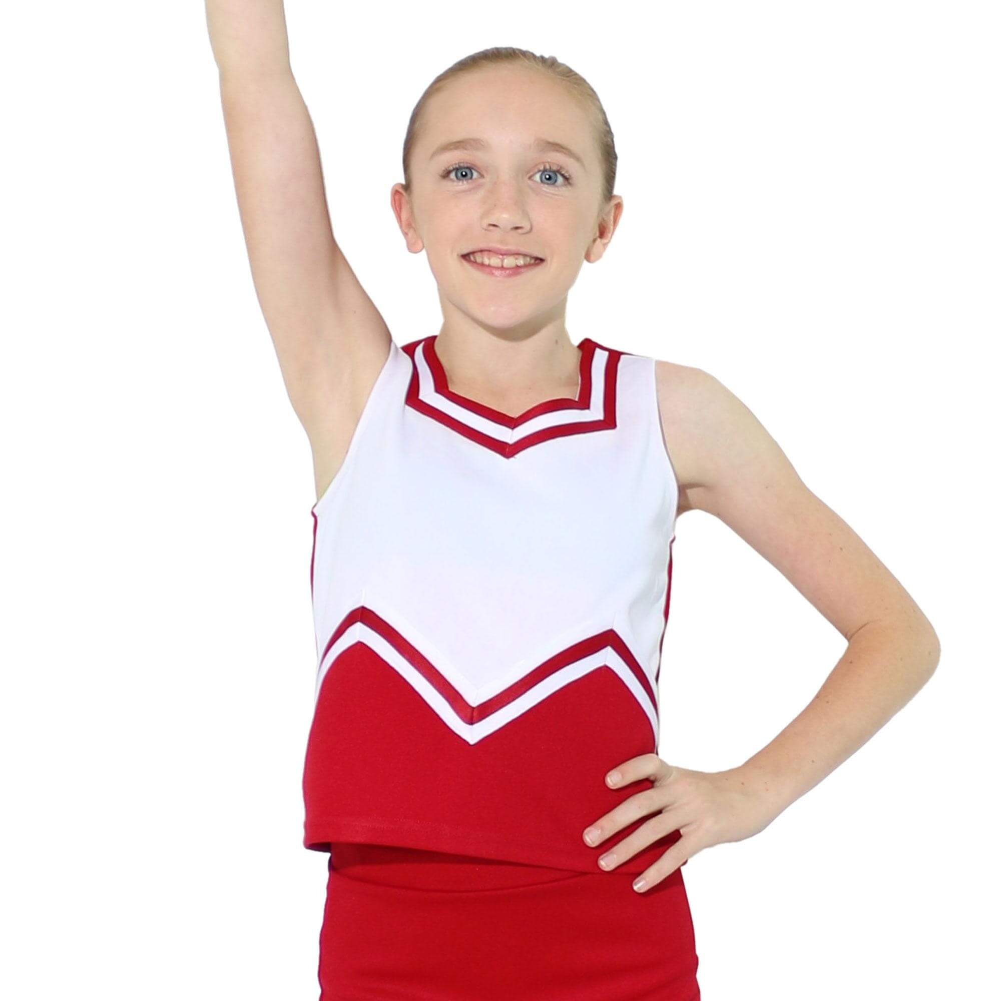 Danzcue Child M Sweetheart Cheerleaders Uniform Shell Top
