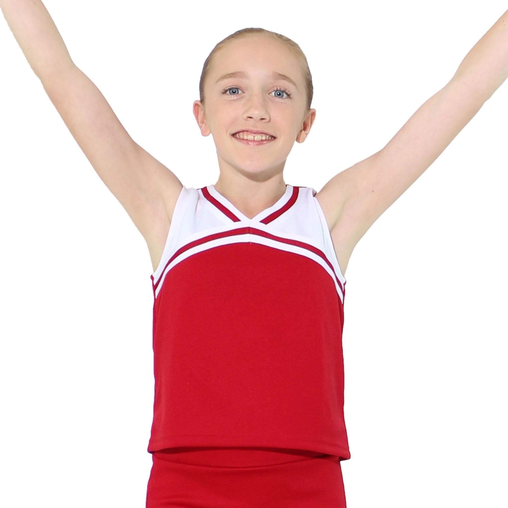 9266b4b70 Danzcue Child Knit Pleat Cheerleading Skirt. $17.99. Danzcue Child Classic Cheerleaders  Uniform Shell Top