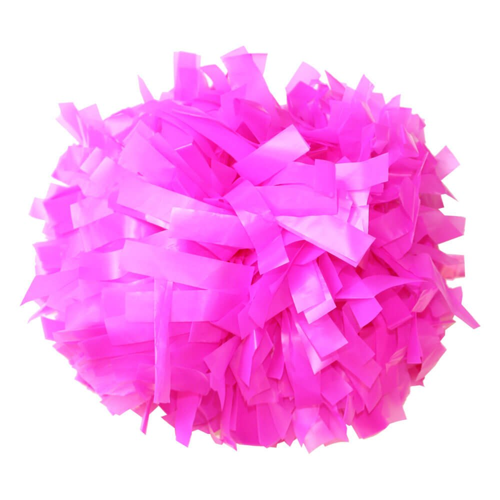 Danzcue Shocking Hot Pink Plastic Poms - One Pair