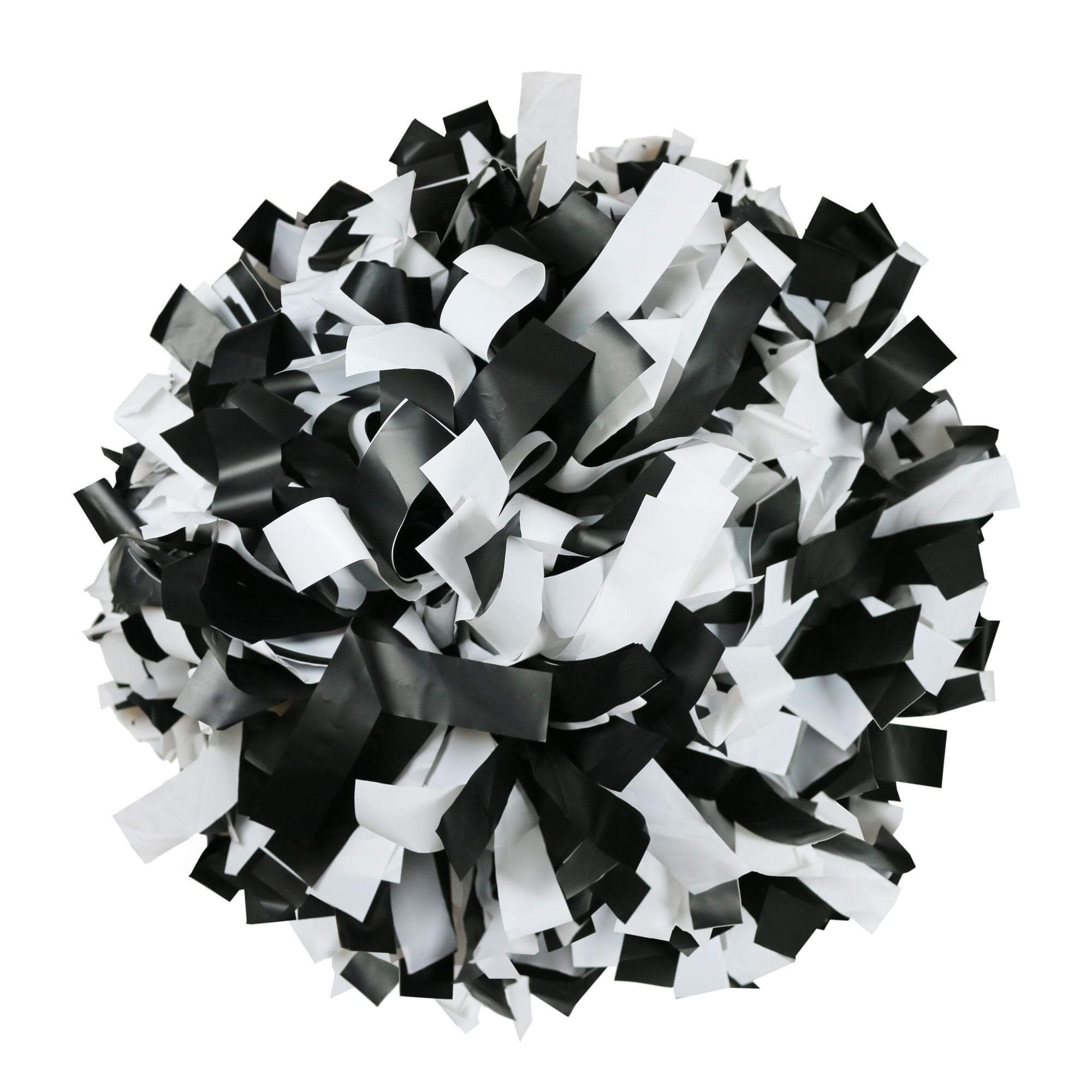 Danzcue Black/White Plastic Poms - One Pair