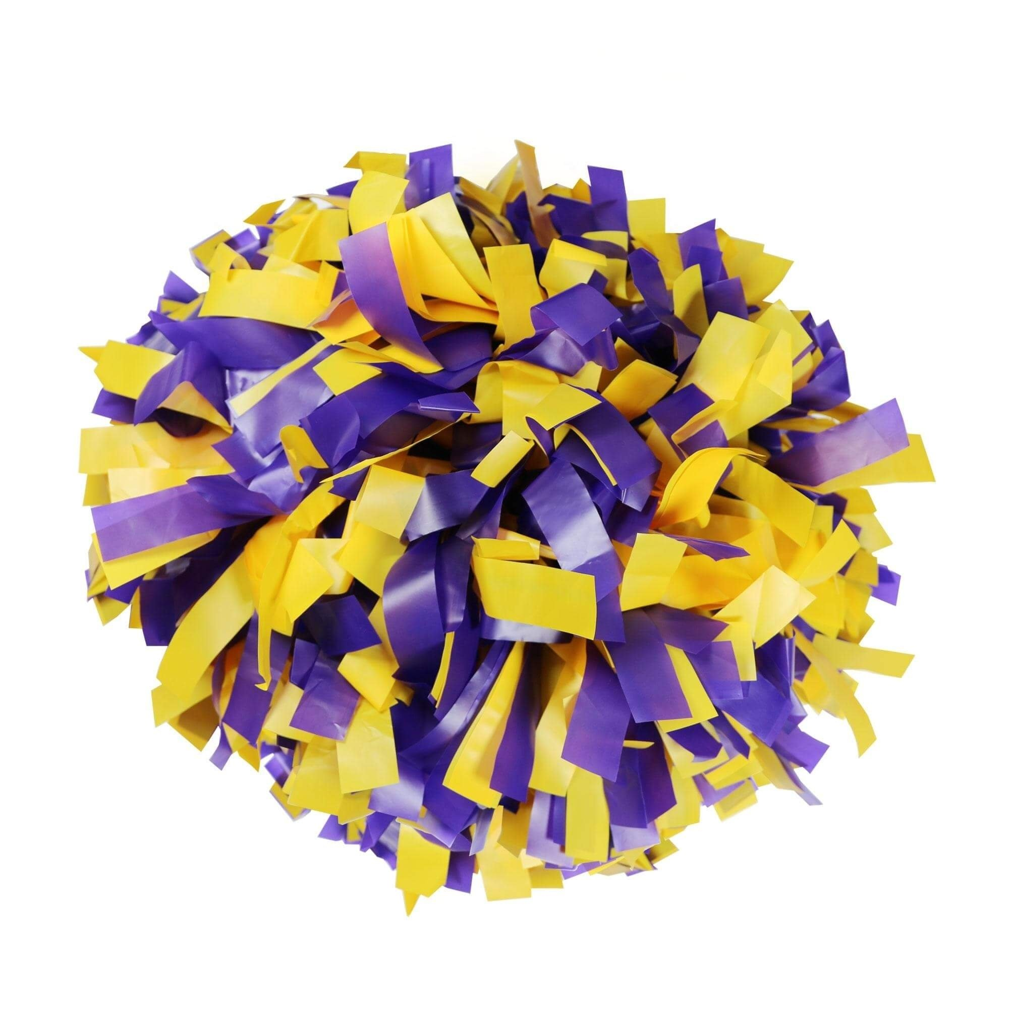 Danzcue Purple/Gold Plastic Poms- One Pair