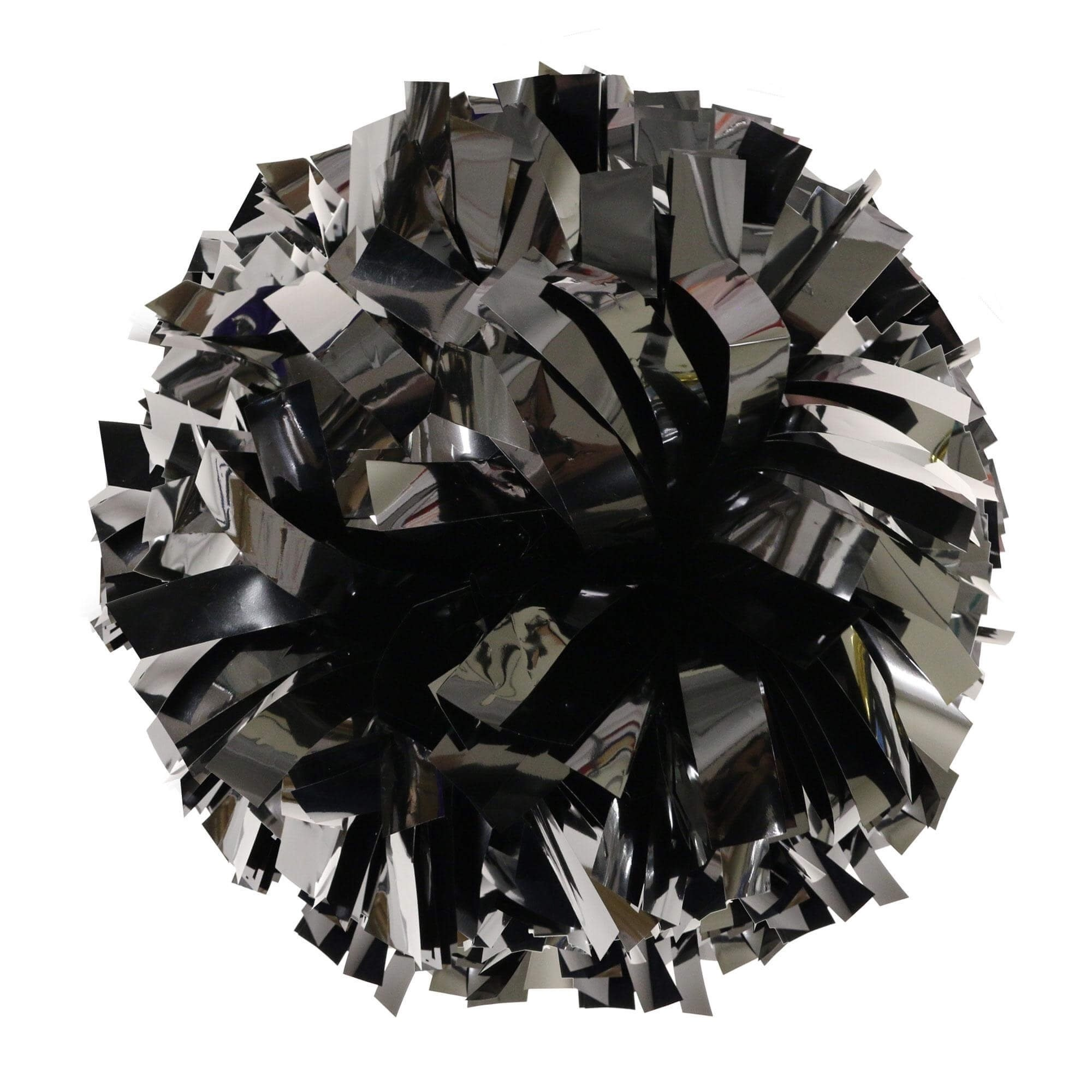 Danzcue Black Metallic Poms - One Pair