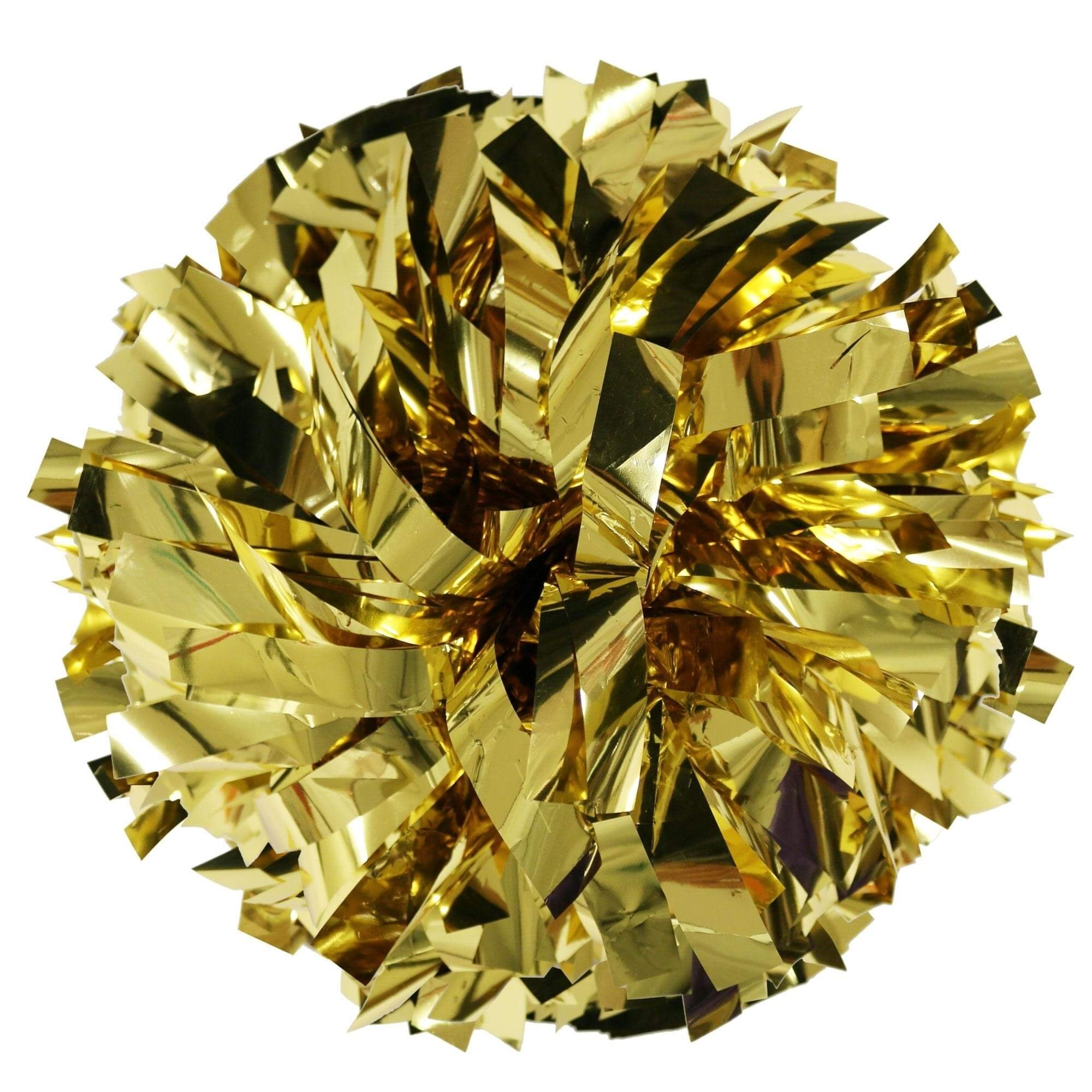 Danzcue Gold Metallic Poms - One Pair