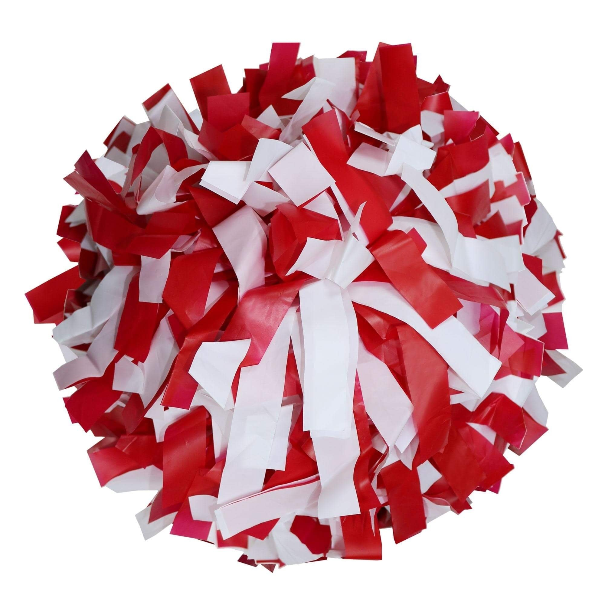 Danzcue Red/White Plastic Poms - One Pair