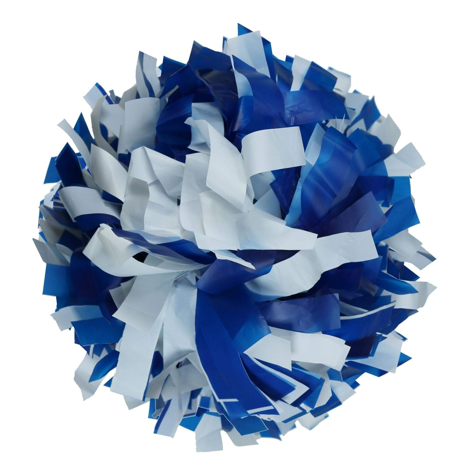 Danzcue Royal/White Plastic Poms - One Pair - Click Image to Close