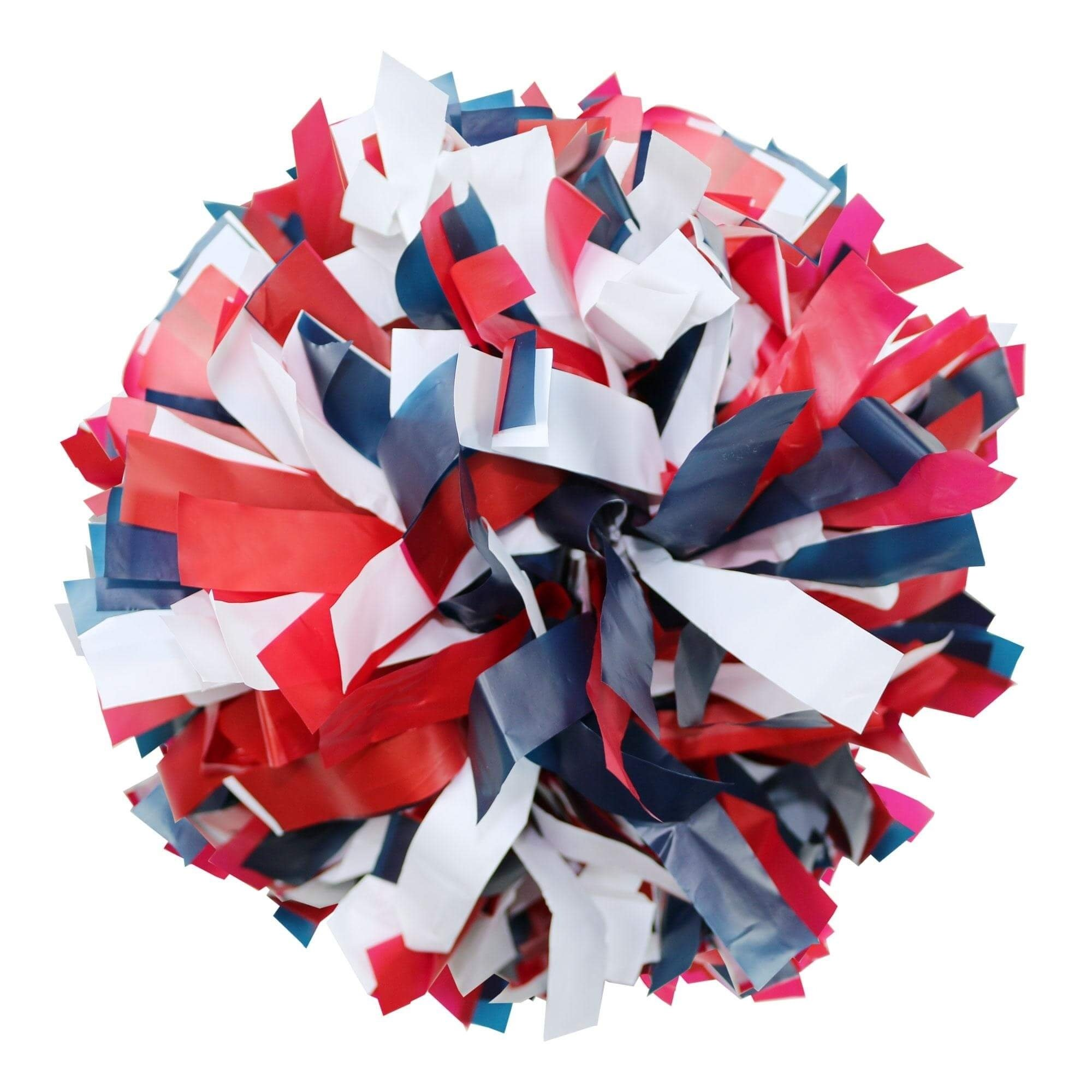 Danzcue Red/Navy/White Plastic Poms - One Pair - Click Image to Close