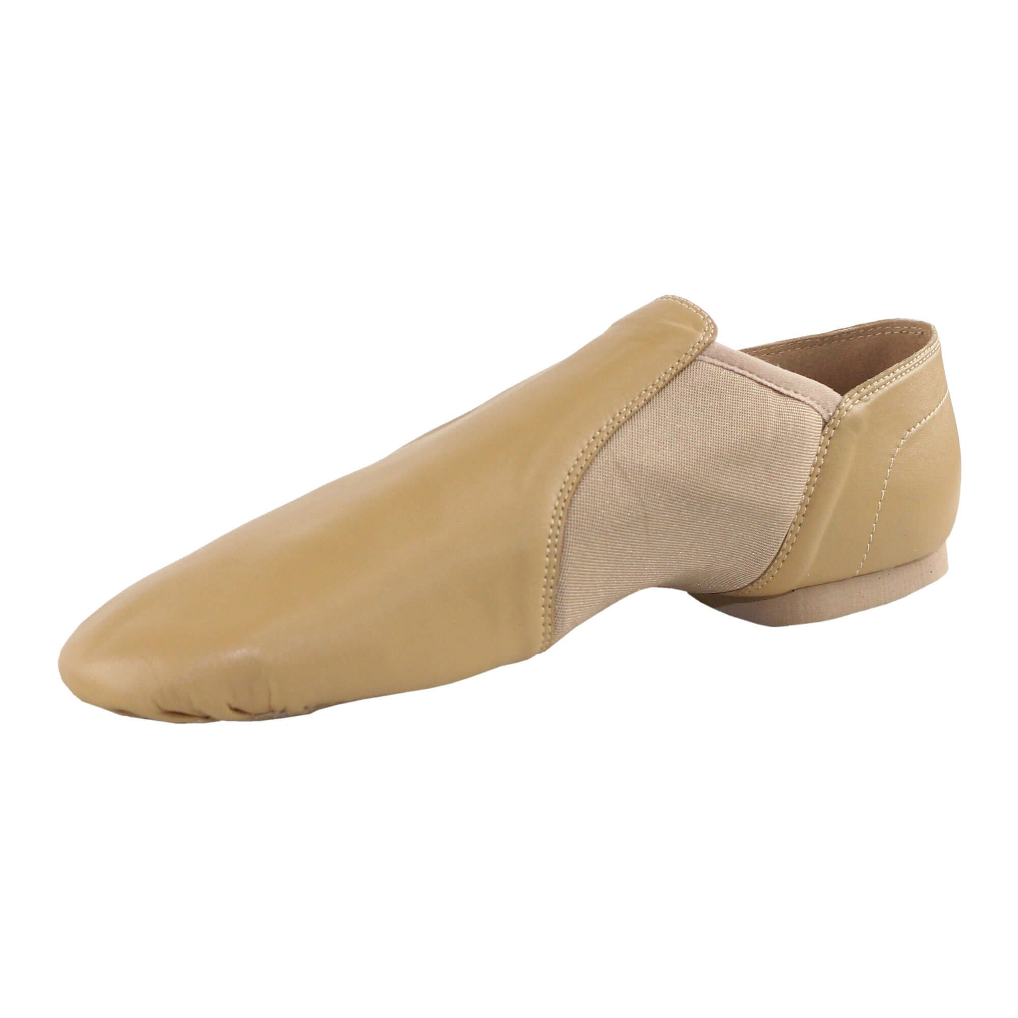 Danzcue Adult Leather Upper Slip-On Jazz Dance Shoes - Click Image to Close