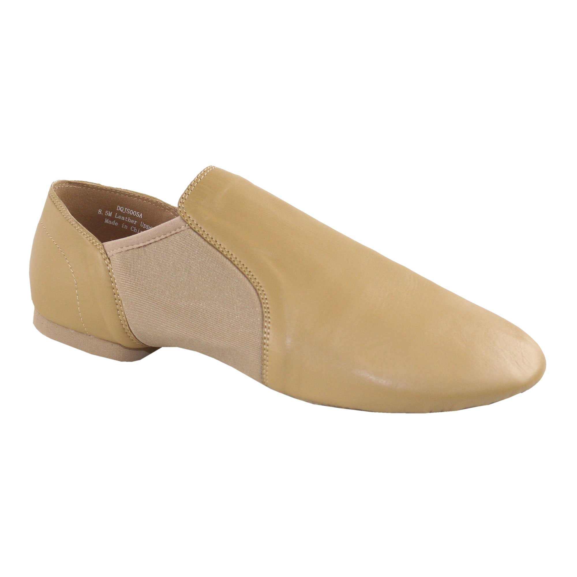 9715843b20b1 Danzcue Adult Leather Upper Slip-On Jazz Dance Shoes