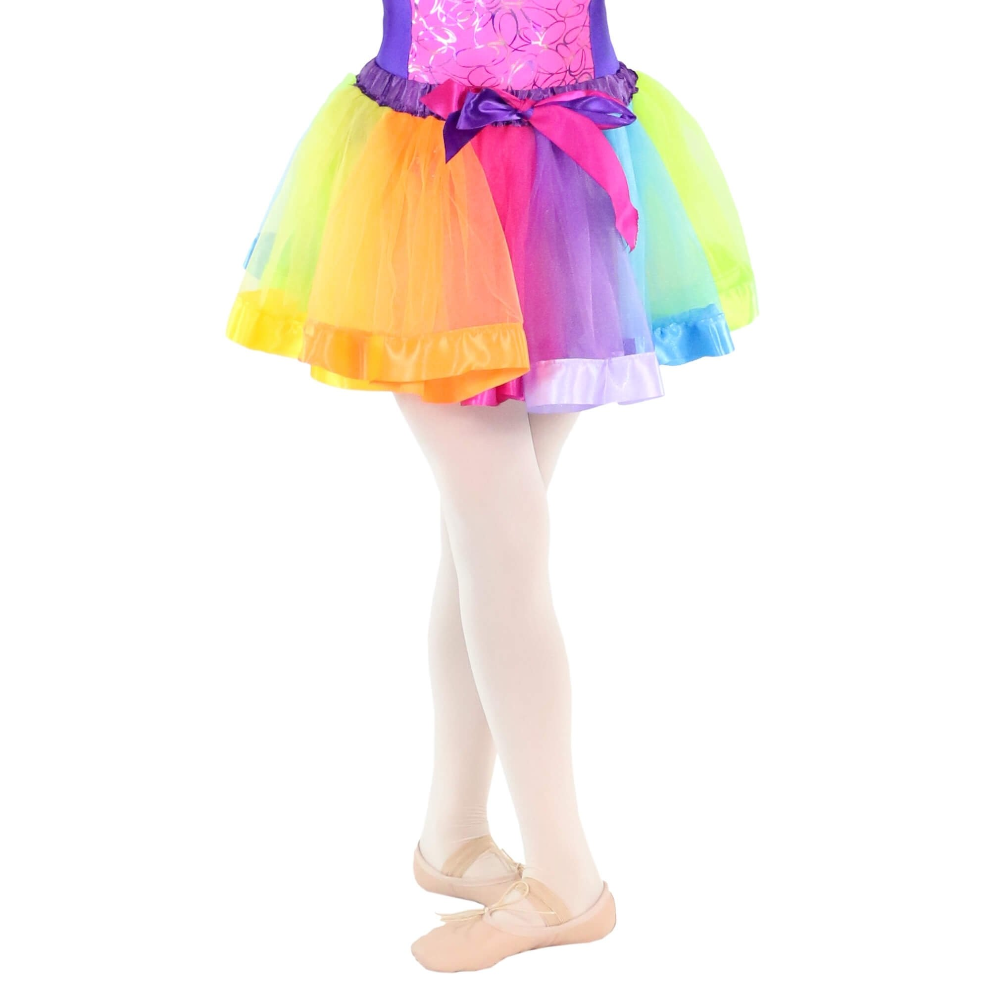 Danzcue Girls Layered Rainbow Dance Tutu Skirt