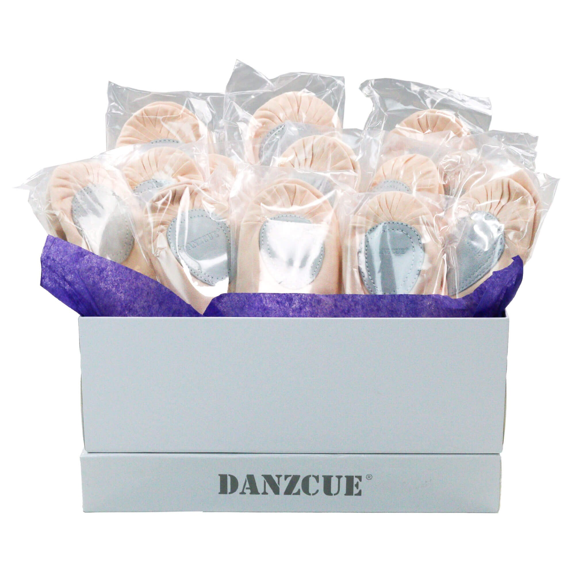 Danzcue Adult Split Sole Canvas Ballet Slipper Sizing Package Kit