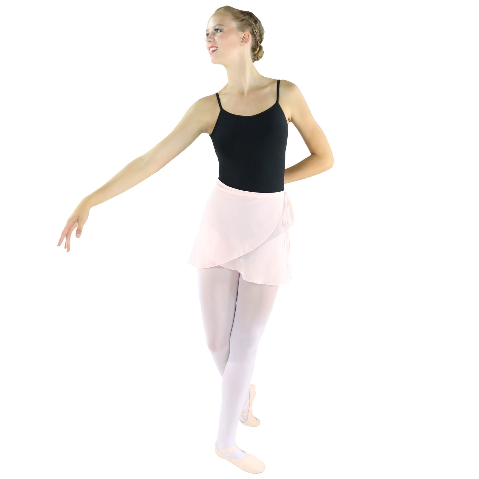 danzcue adult ballet dance wrap skirt