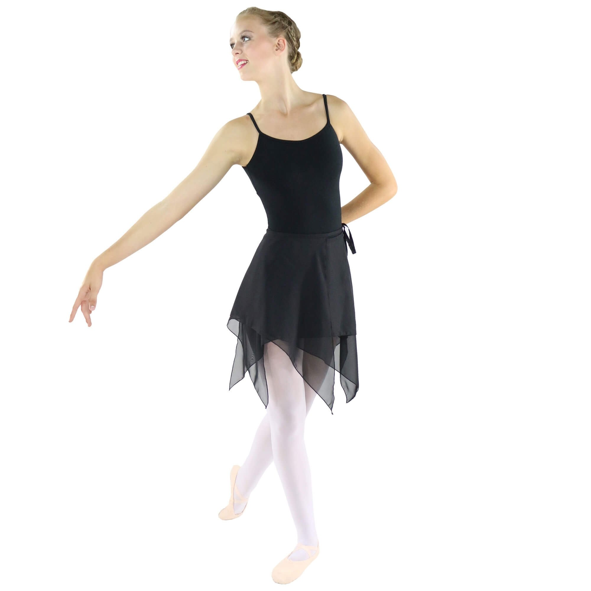 Danzcue Adult Asymmetric Ballet Dance Wrap Skirt