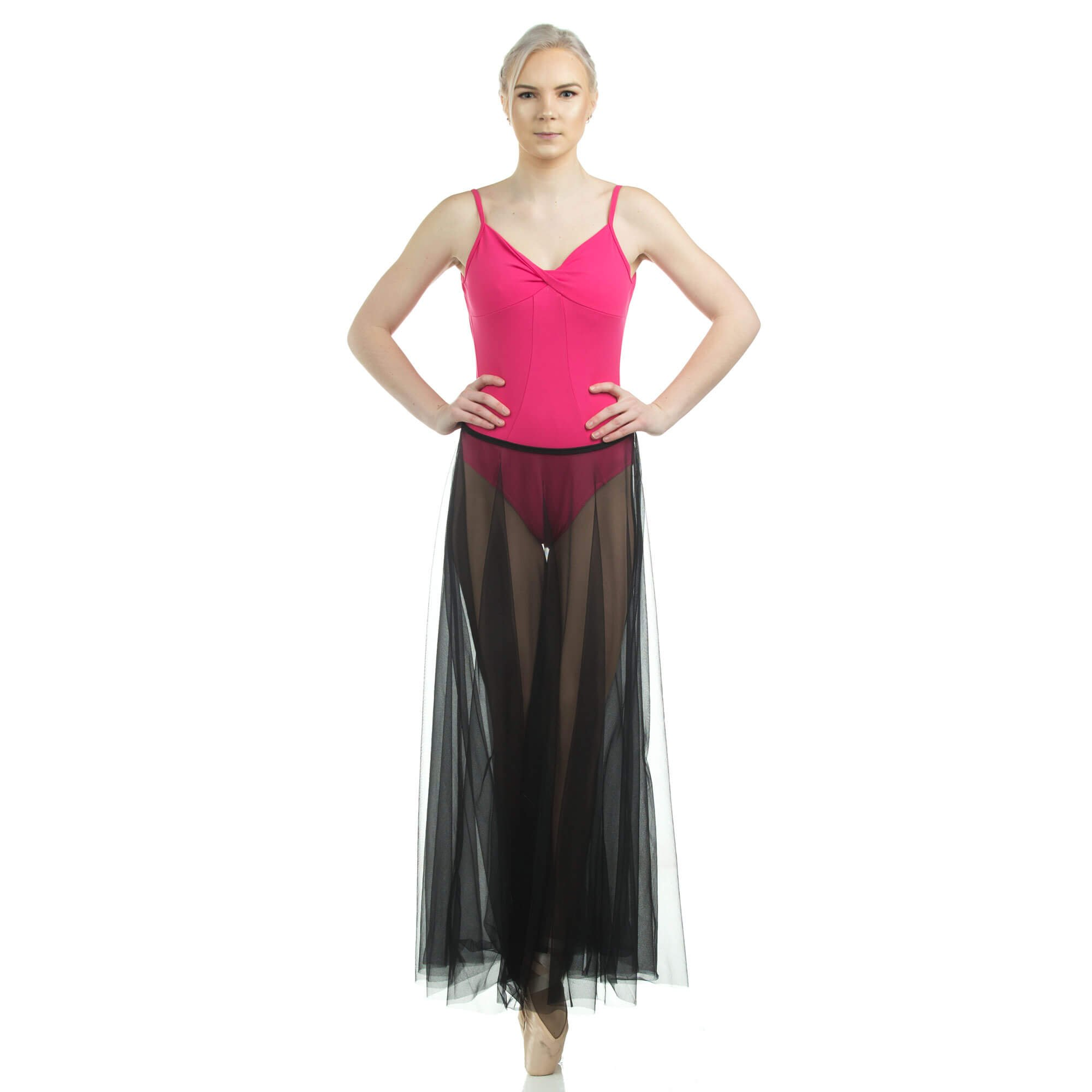 Danzcue Long Full Chiffon Skirt - Click Image to Close