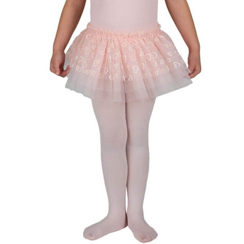 Danskin Child Glitter Hearts Tulle Tutu