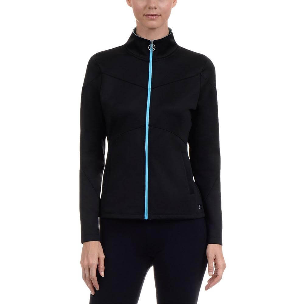 Danskin Women Mock Neck Yoga Jacket