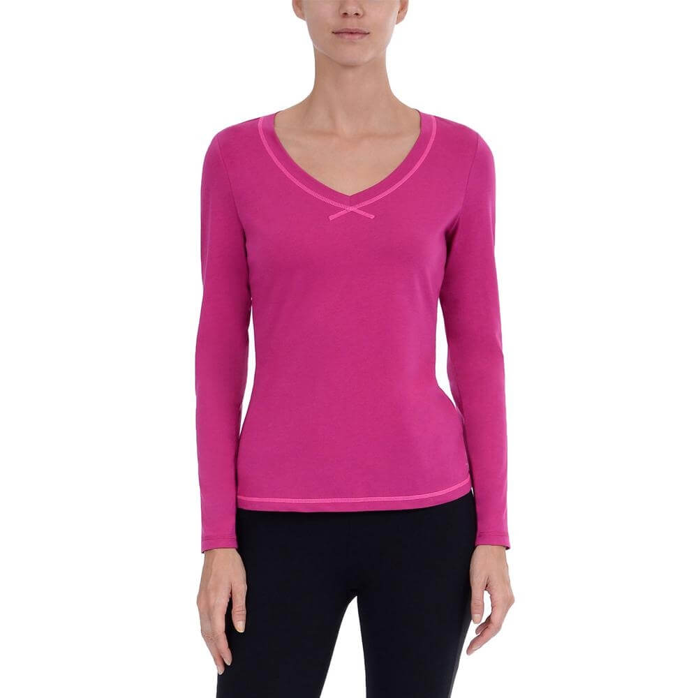 Danskin Women Yoga V-Neck Lightweight Tee