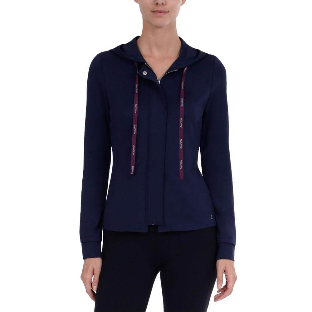 Danskin Women Pleated Drop Back Jacket