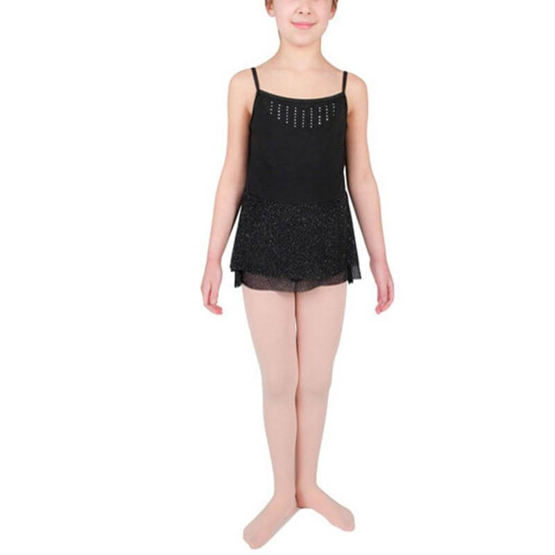 Danskin Child Glitter Mesh Skirted Leotard