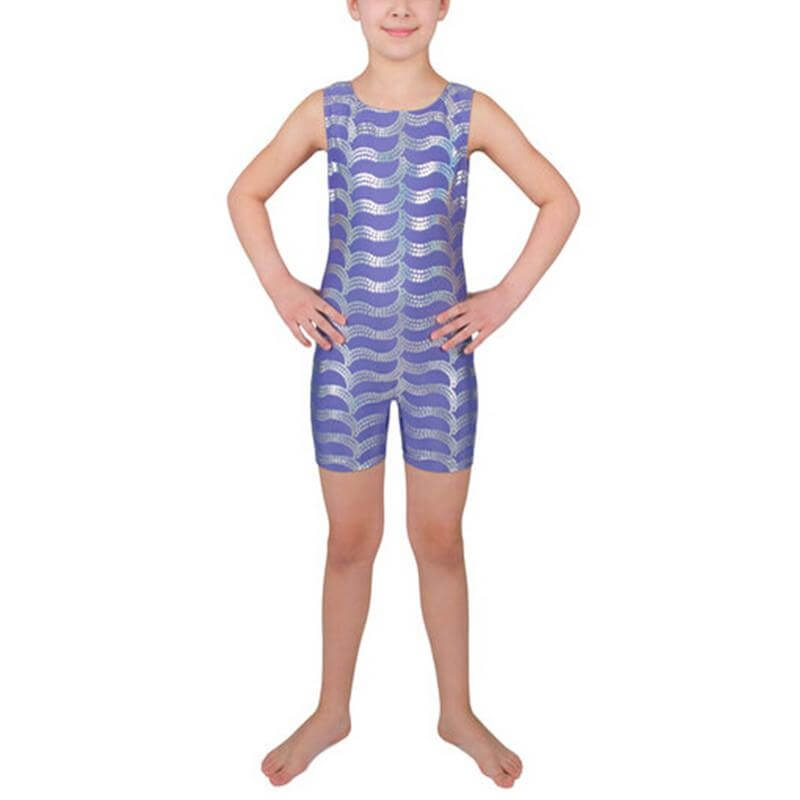 Danskin Child Sparkle Shortall Tank Gymnastics Unitard