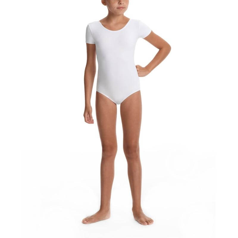 Danskin Girls Team Cheer Short Sleeve Leotard