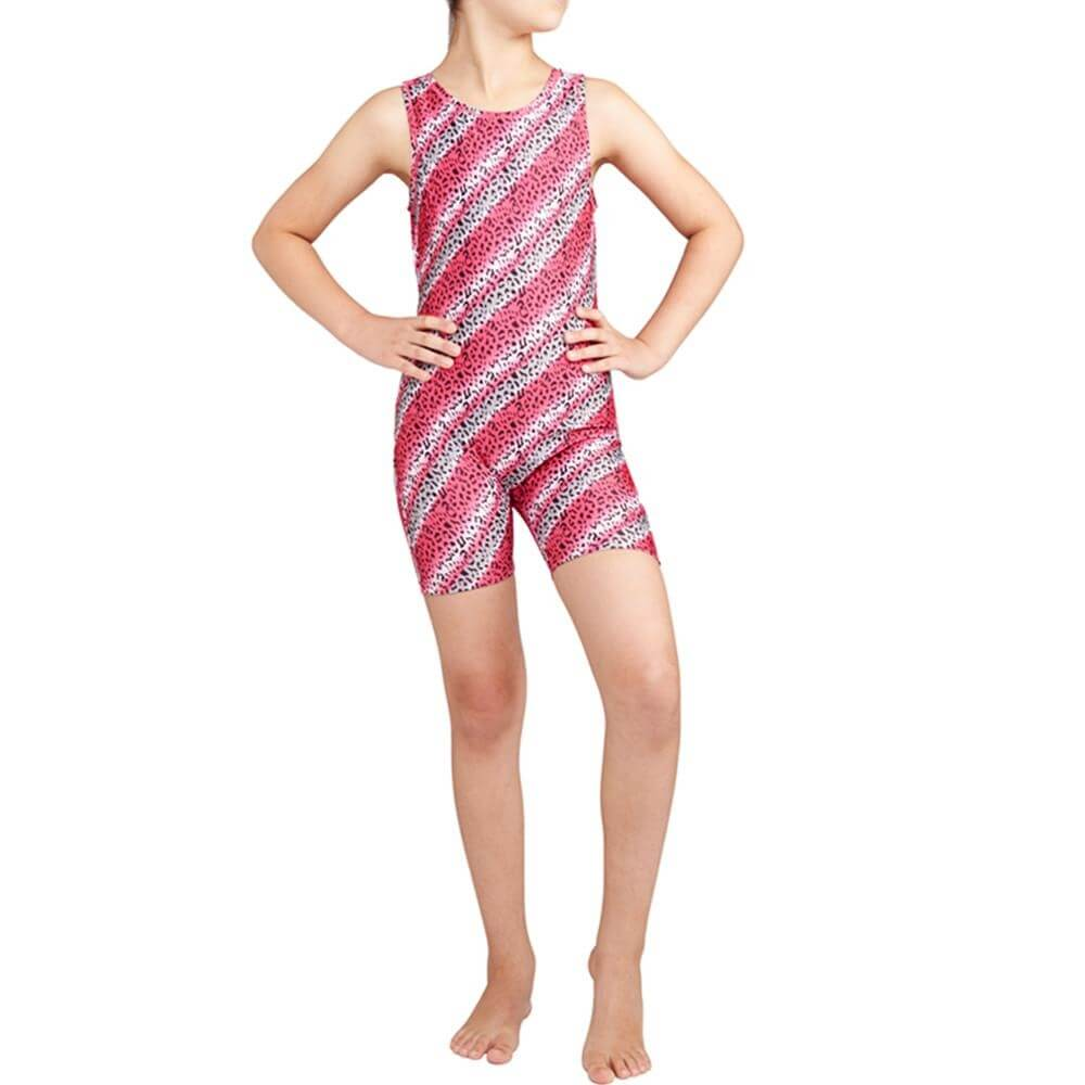 Danskin Child Gymnastics Animal Inspired Print Unitard