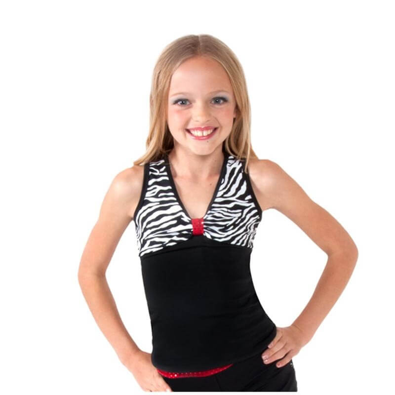 Funky Diva Child Zebra Tank Top w/ Open Back