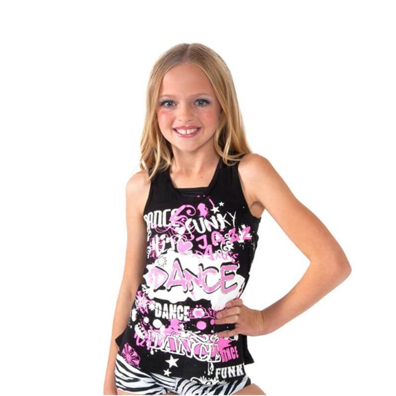 Funky Diva Child Racerback Dance Tank Top