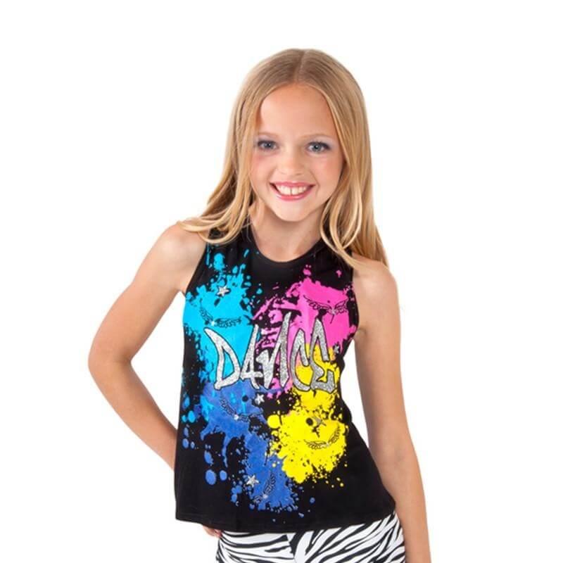 Funky Diva Child Glitter Dance Tank Top