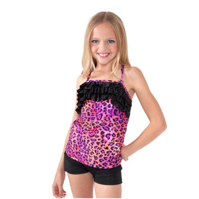 Funky Diva Child Leopard Camisole Top