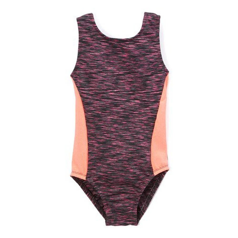 Girl Power Heathered Sport Perfect Fit Leotard