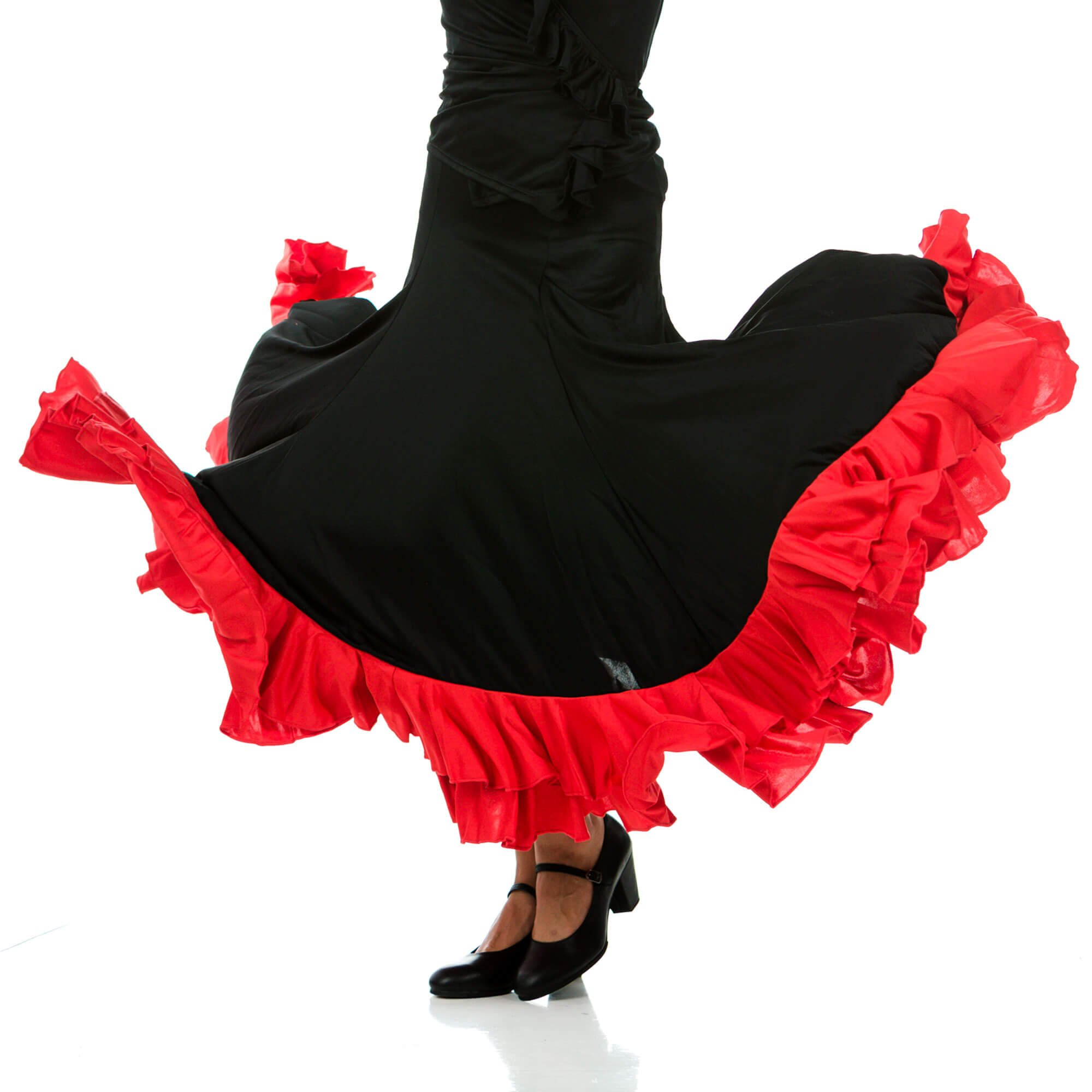 Happy Dance Full Circle Flamenco Skirt With Two Ruffles