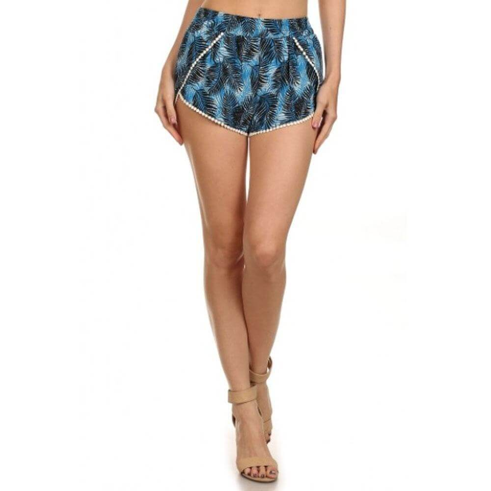 Iris Fit Printed High Waisted Shorts