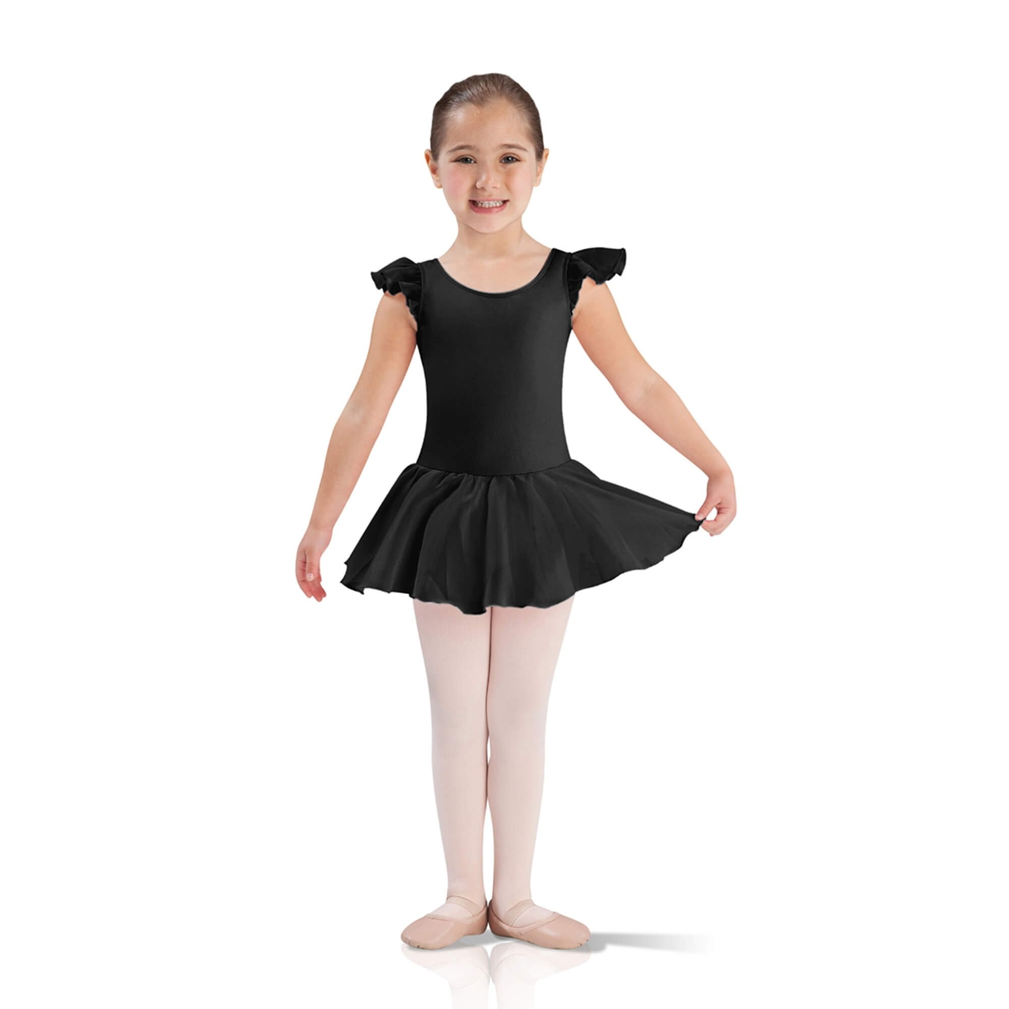 Leo\'s Child Flutter Sleeve Skirted Leotard