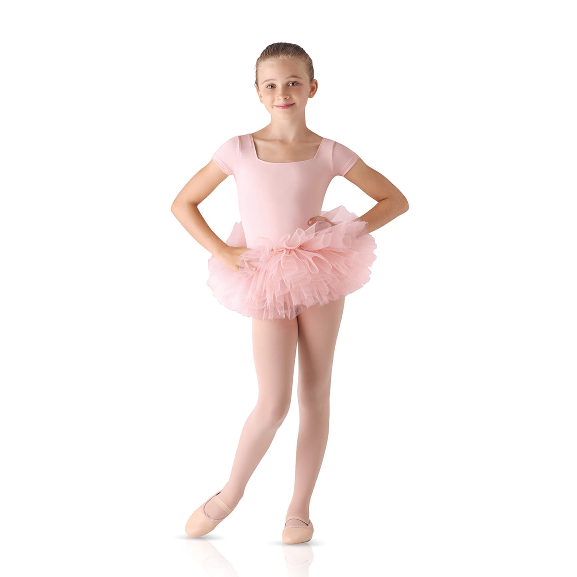 Leo's Children's TuTu Skirted Short Sleeve Leotard