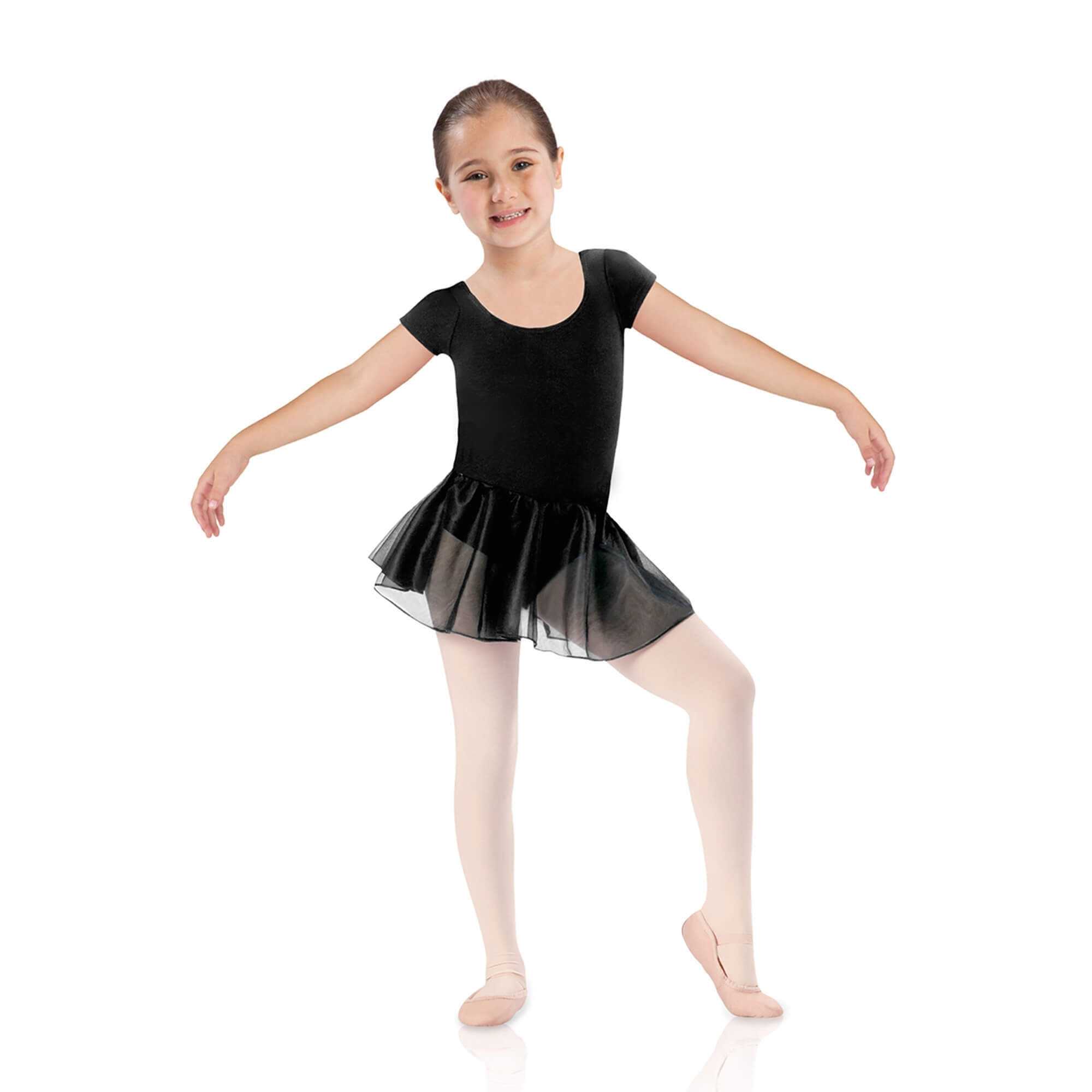 Leo's Children's Short Sleeve Skirted Leotard