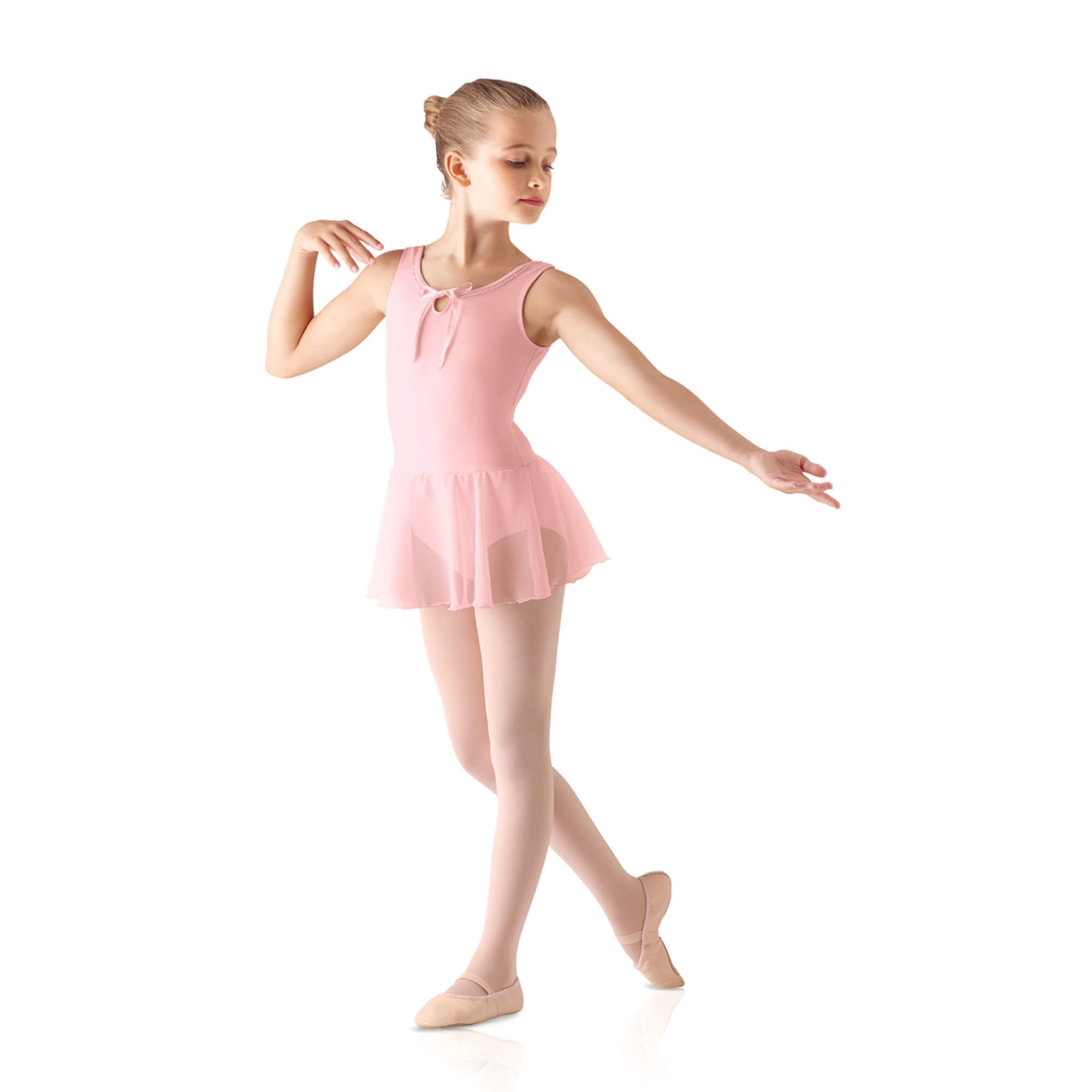 Leo's Children's Ruffle Neck Skirted Leotard