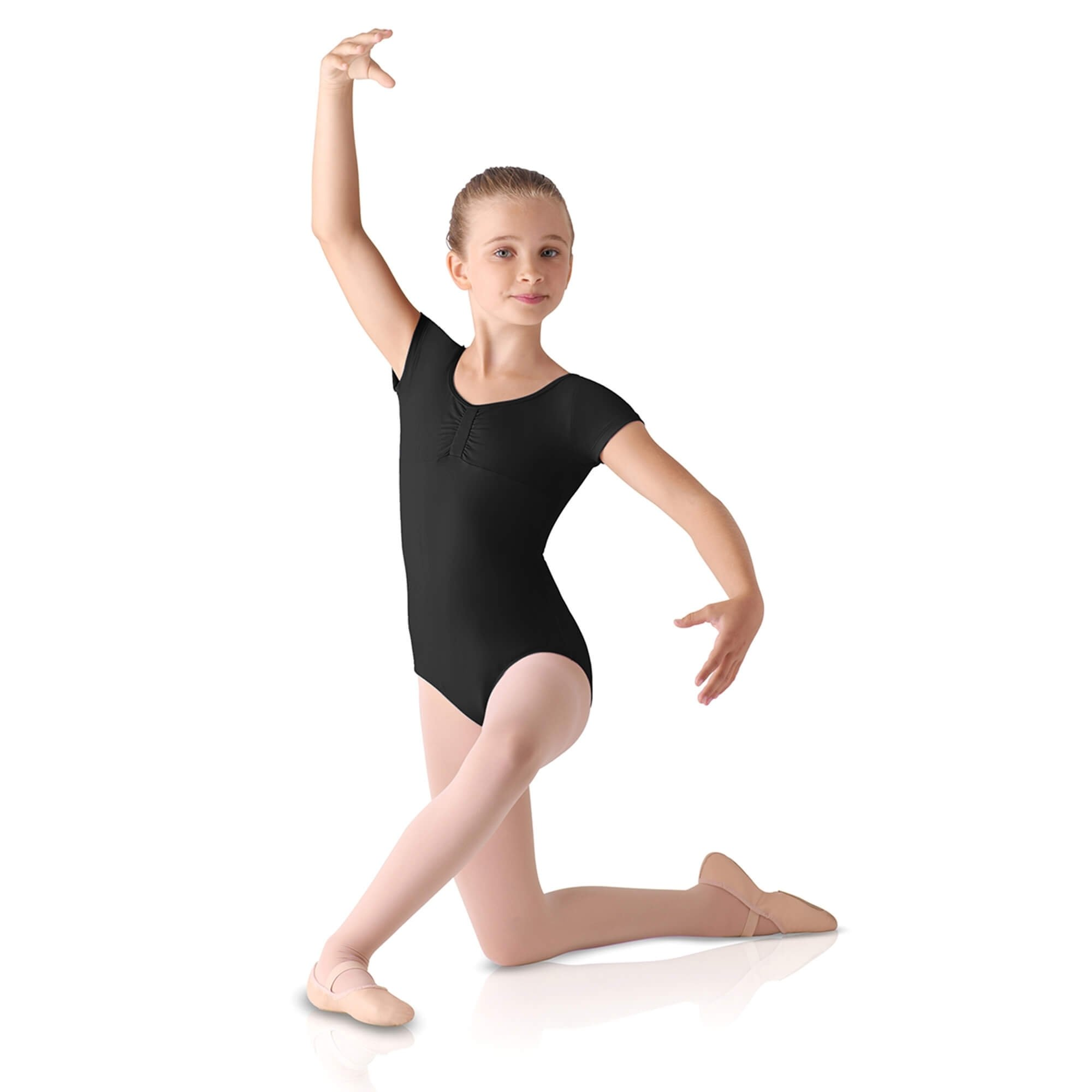 Leo's Children's Gathered Front Cap Sleeve Leotard
