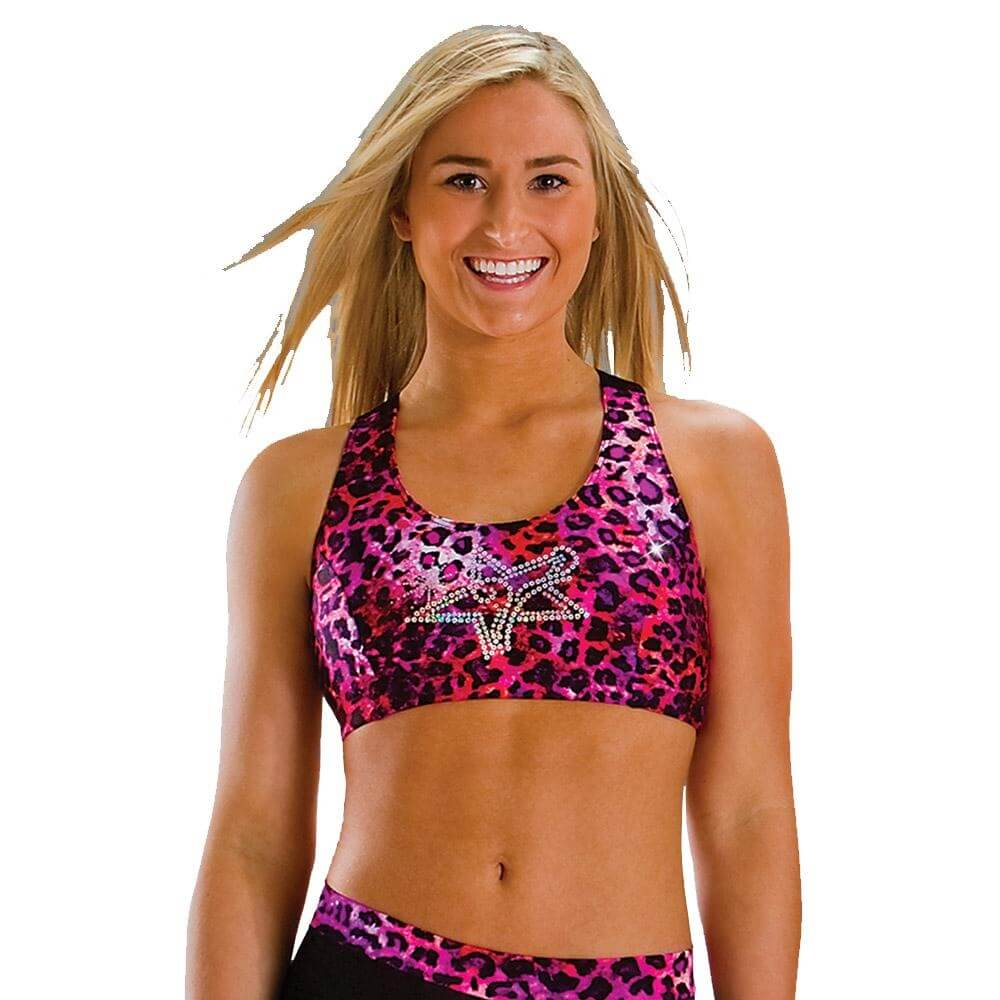 Motionwear Practice Wear All Star Print Bra Top