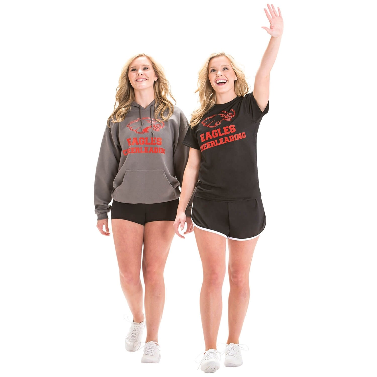 Motionwear Cheerleading Warm Up Gray Hoodie