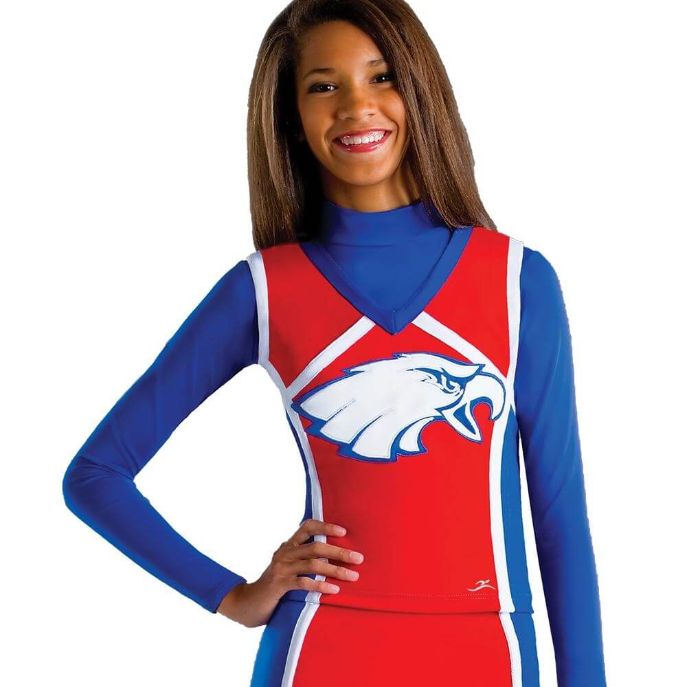 Motionwear Adult V-Neck Eagle Cheer Shell