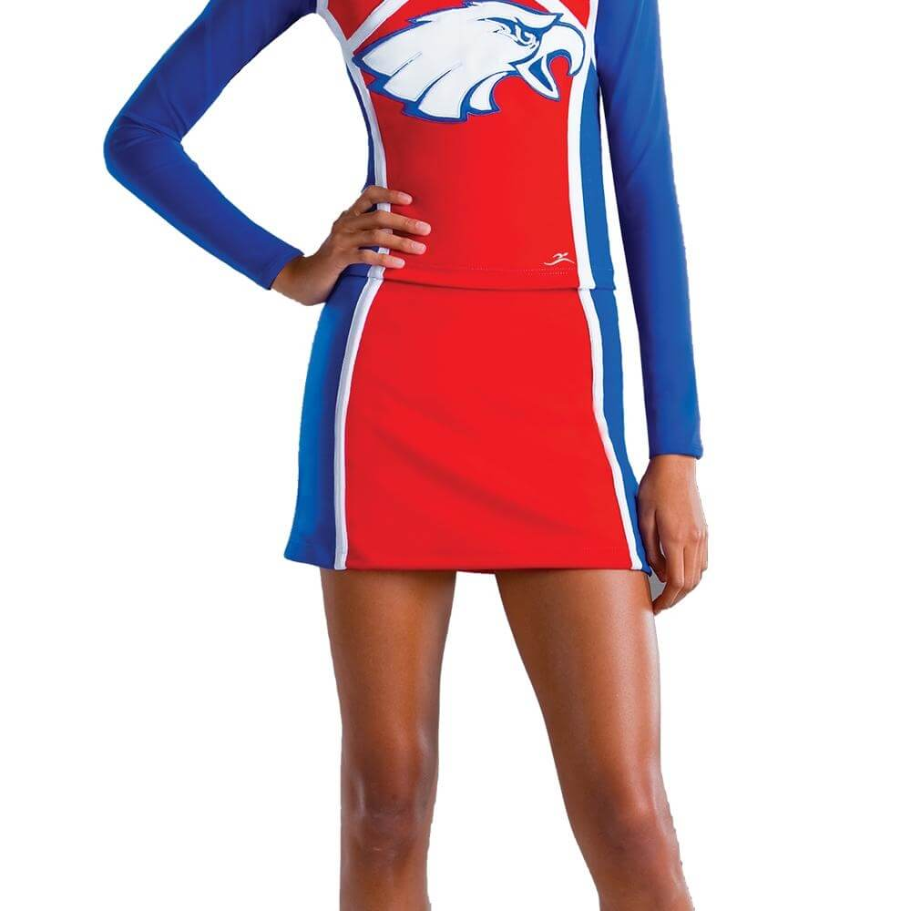 Motionwear Adult Side Color Block Cheer Skirt
