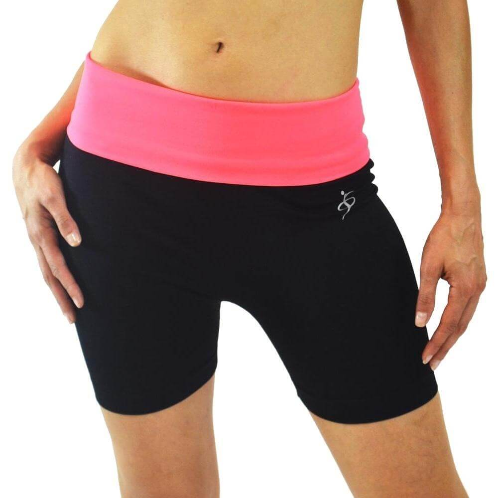 O to S Amazing Sports Yoga Shorts in Neon - Click Image to Close