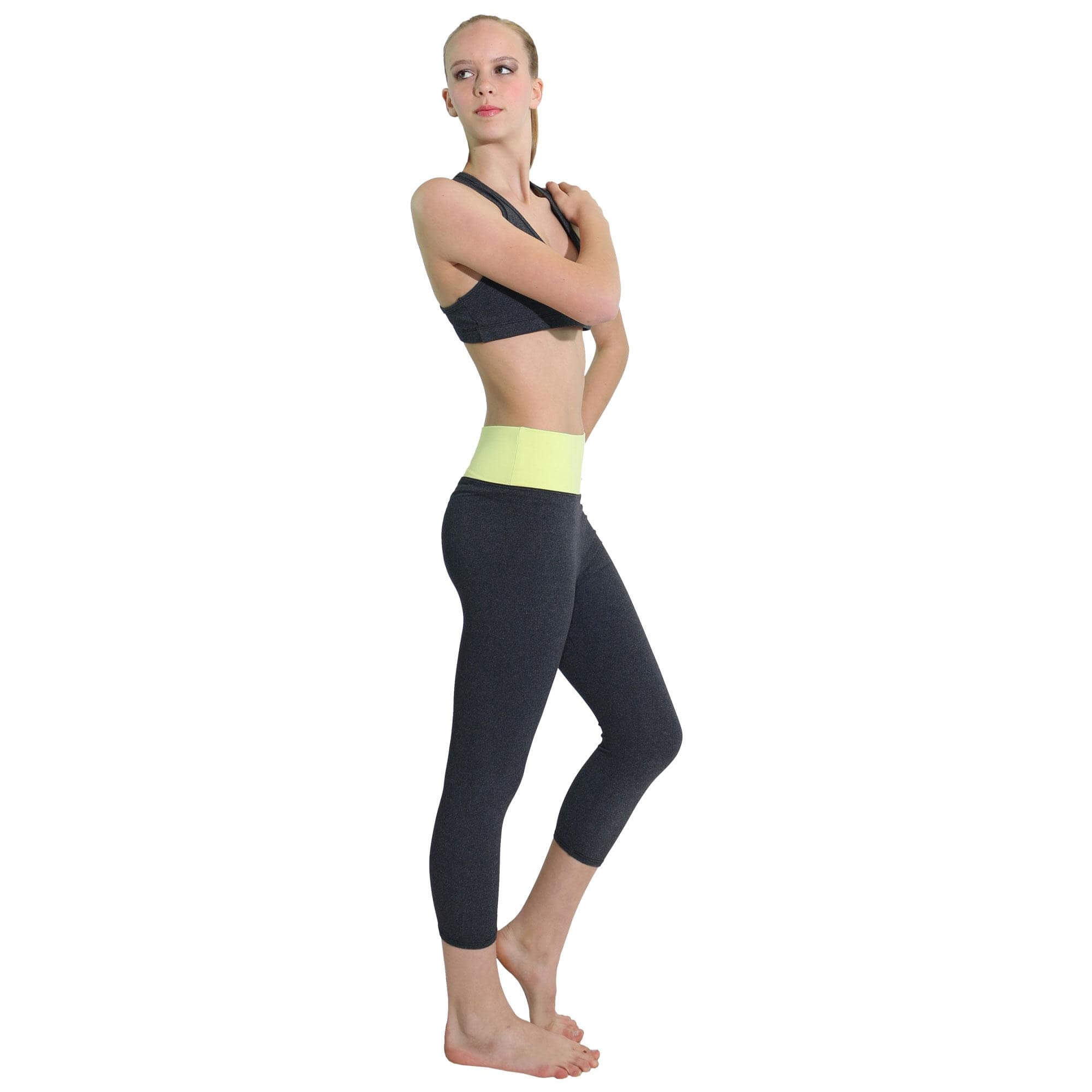 Suede Supplex Tranquility Capri Legging - Click Image to Close