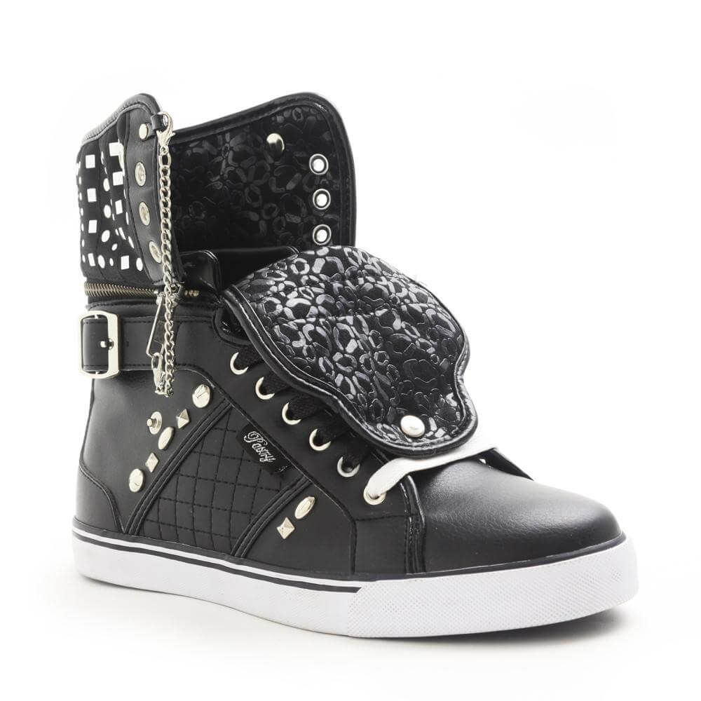 "Pastry Dance Adult ""Sugar Rush"" Black Cheetah Sneaker"