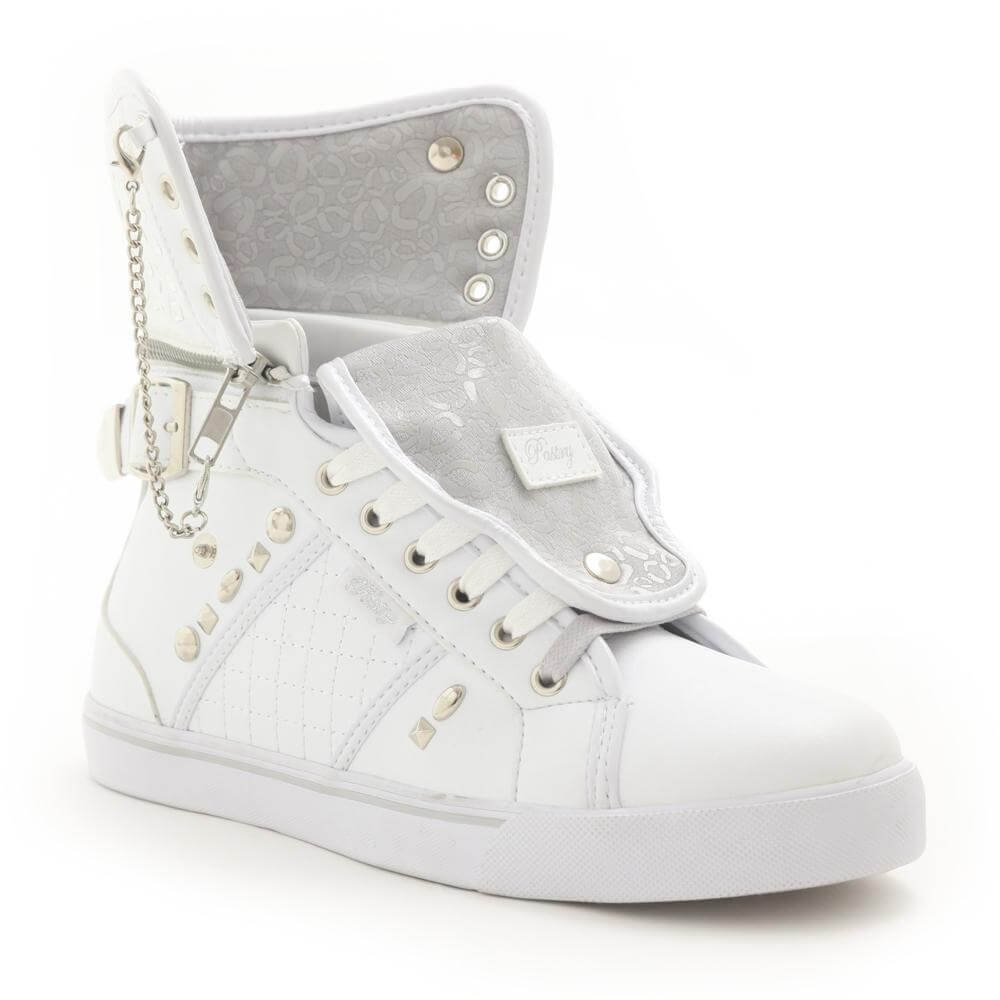 "Pastry Dance Adult ""Sugar Rush"" White Cheetah Sneaker"