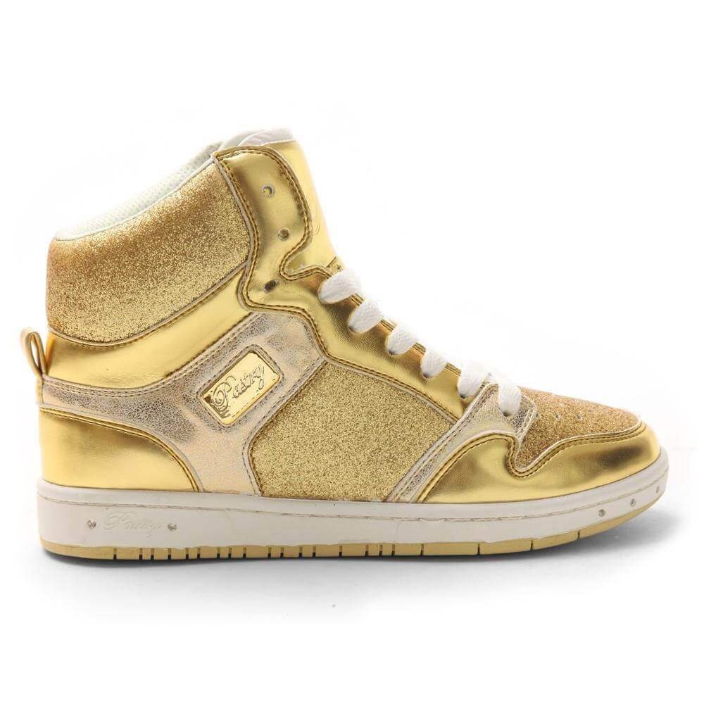 "Pastry Dance Adult ""Glam Pie"" Glitter Gold Sneaker"