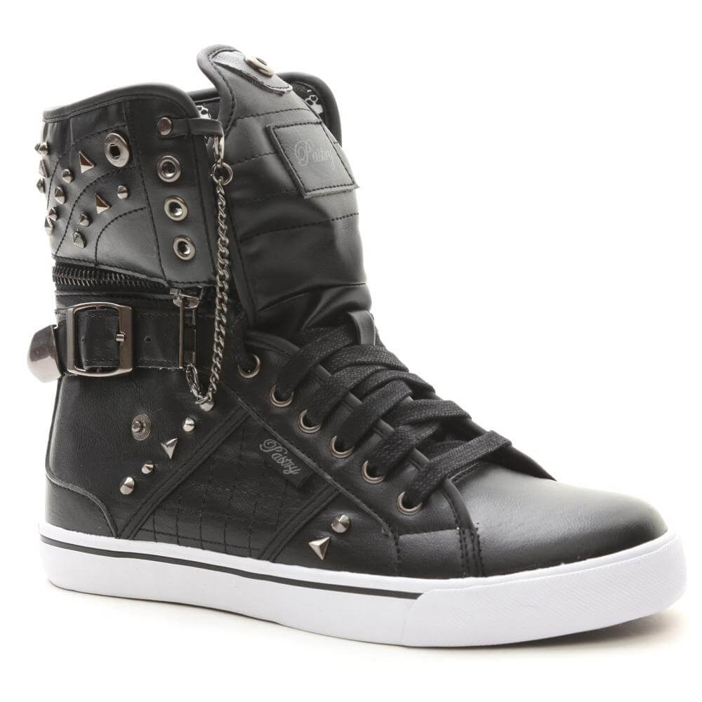 "Pastry Dance Adult ""Sugar Rush"" Skulls Black Sneaker"