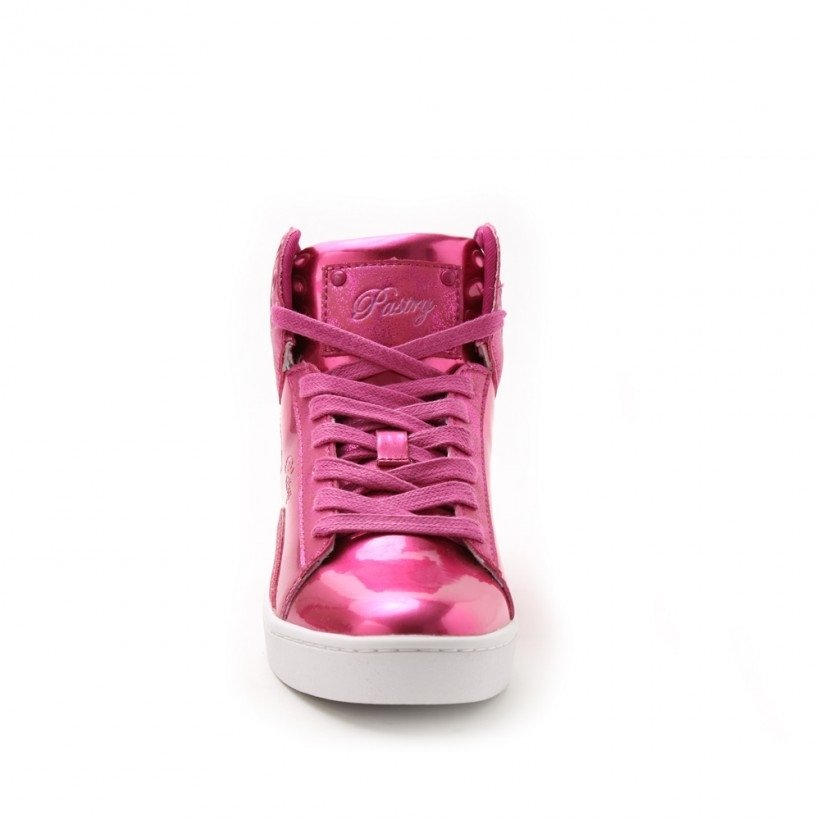 "Pastry Dance Adult ""Pop Tart"" Glitter Fuschia Sneaker - Click Image to Close"