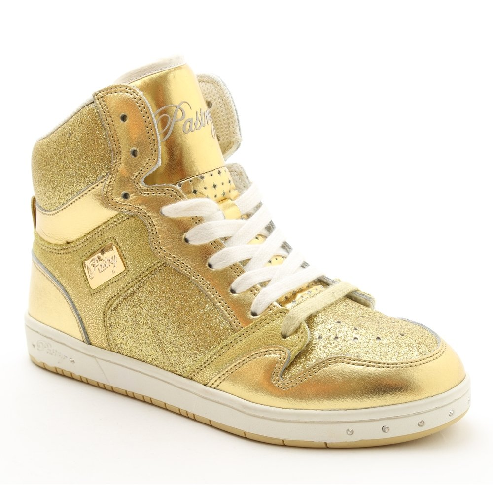 "Pastry Dance Adult ""Glam Pie\"" Glitter Gold Sneaker"